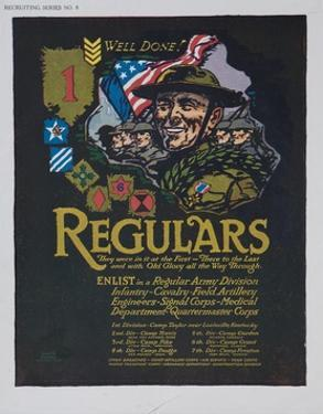 Well Done! Regulars Recruiting Poster