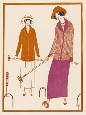 Well-Dressed Croquet Player Wearing a Model from James et Cie