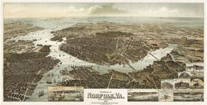Panorama of Norfolk, Virginia, and Surroundings, 1892 by Wellge