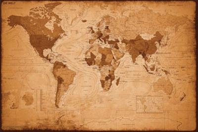 Weltkarte - Antik
