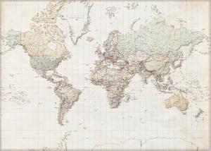 Weltkarte - Deutsch
