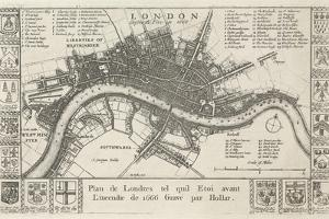 London, before the Fire in 1666 by Wenceslaus Hollar