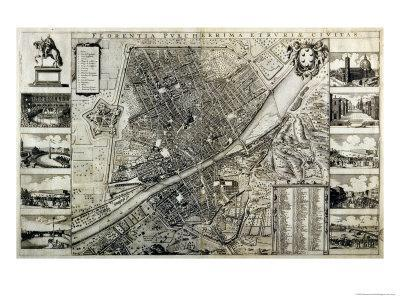 Map of the City of Florence