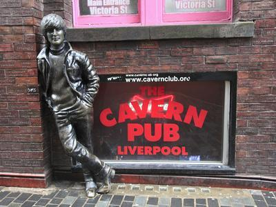 John Lennon Sculpture, Mathew Street, Liverpool, Merseyside, England, United Kingdom, Europe