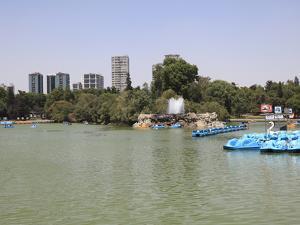 Lake, Chapultepec Park (Bosque De Chapultepec), Chapultepec, Mexico City, Mexico, North America by Wendy Connett