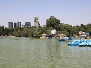 Lake, Chapultepec Park (Bosque De Chapultepec), Chapultepec, Mexico City, Mexico, North America by Wendy Connett