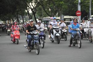 Le Loi Boulevard, Ho Chi Minh City (Saigon), Vietnam, Indochina, Southeast Asia, Asia by Wendy Connett