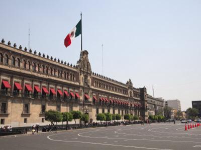 National Palace (Palacio Nacional), Zocalo, Plaza De La Constitucion, Mexico City, Mexico