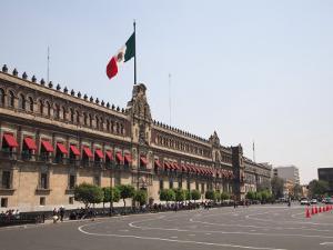 National Palace (Palacio Nacional), Zocalo, Plaza De La Constitucion, Mexico City, Mexico by Wendy Connett
