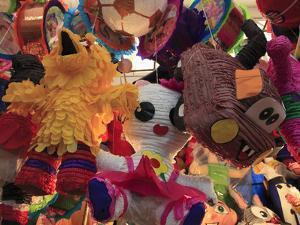 Pinatas, Market, Xochimilco, Mexico City, Mexico, North America by Wendy Connett