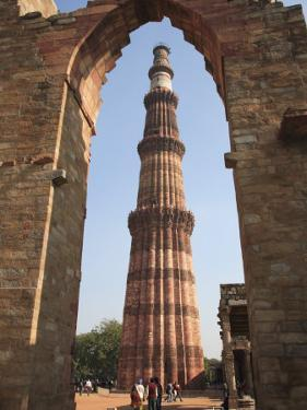 Qutab Minar Tower, UNESCO World Heritage Site, New Delhi, India, Asia by Wendy Connett
