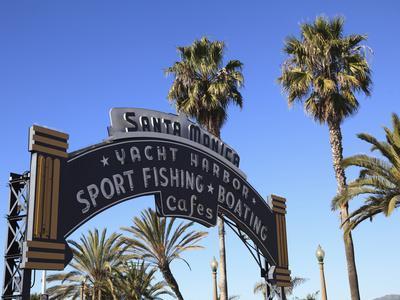 Santa Monica Pier, Santa Monica, Los Angeles, California, Usa