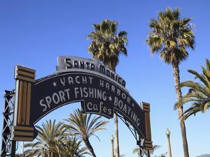 Santa Monica Pier, Santa Monica, Los Angeles, California, Usa by Wendy Connett