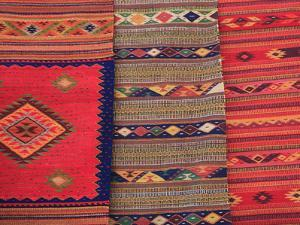 Traditional Hand Woven Rugs, Oaxaca City, Oaxaca, Mexico, North America by Wendy Connett