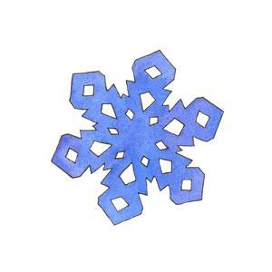 Blue Snowflake 2 by Wendy Edelson