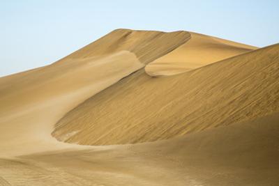 Namibia, Namib Desert. Pinwheel Pattern on Sand Dunes