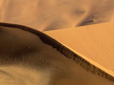 Namibia, Namib-Naukluft Park. Abstract of Side-Lit Sand Dunes