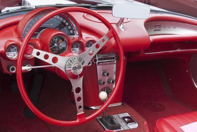 USA, Indiana, Carmel. Classic Chevy Corvette.