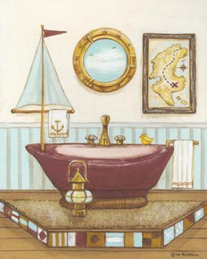 Nautical Bath I by Wendy Russell