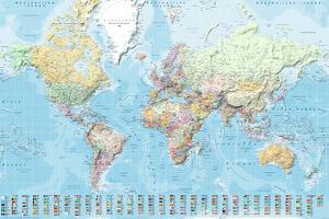 Wereldkaart - Staatkundig Nederlandstalig