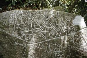 Arawak petroglyph known as the Carib stone, Caurita, Trinidad, Trinidad & Tobago, c1000-1500 by Werner Forman