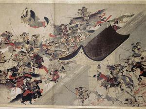 Detail from the Heiji scroll, Japanese, Kamakura period, 1185-1333 by Werner Forman