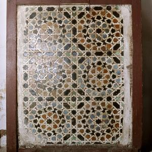 Geometric tile mosaic from the now destroyed madrasa founded by the Ziyanid sultan Abu Tashfin by Werner Forman