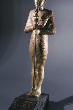 Gold statue of Ptah, god of Memphis, Ancient Egyptian, 18th dynasty, c1333-1324 BC by Werner Forman