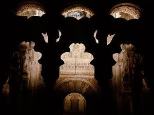 In front of the mihrab of the Great Mosque of Cordoba, part of the 10th century enlargements by Werner Forman