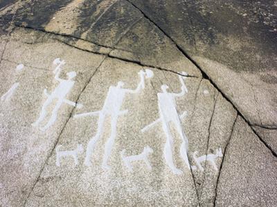 Petroglyph, Boat-Axe culture, pre-Viking, Bohuslan, Sweden, Bronze Age by Werner Forman