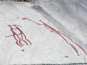 Petroglyph, Boat-Axe culture, pre-Viking, Vitlycke, Bohuslan, Sweden, Bronze Age by Werner Forman