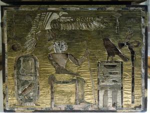Remains of furniture found in the Giza tomb of Hetep-heres I by Werner Forman