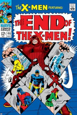 X-Men No.46 Cover: Juggernaut, Cyclops, Beast, Angel, Grey, Jean and X-Men by Werner Roth