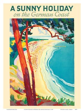 A Sunny Holiday on the German Coast by Werner Von Axster-Heudtlass