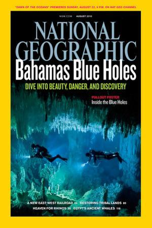 Cover of the August, 2010 National Geographic Magazine by Wes C. Skiles