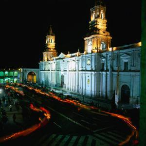 A Candlelit Procession Makes Its Way Around the Plaza De Armas, Lima, Peru by Wes Walker