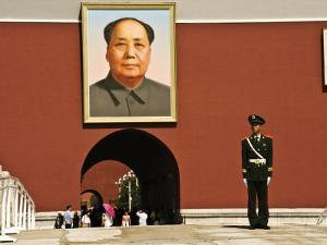 Forbidden City with Mao Portrait and Guard by Wes Walker