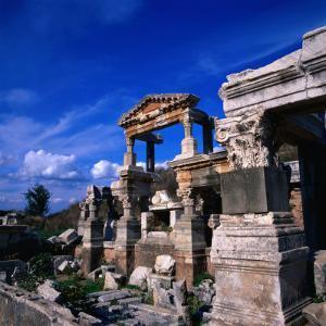 The Fountain of Emperor Trajan, Ephesus, Izmir, Turkey by Wes Walker