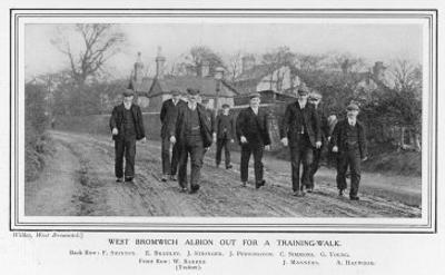 West Bromwich Albion Prove Their Fitness by Going out for a Training Walk