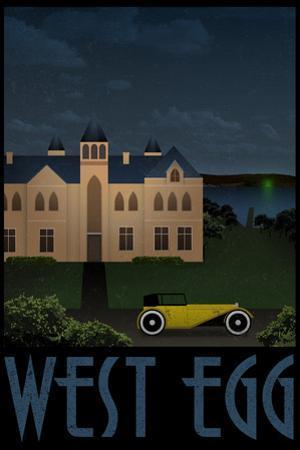 West Egg Retro Travel Plastic Sign