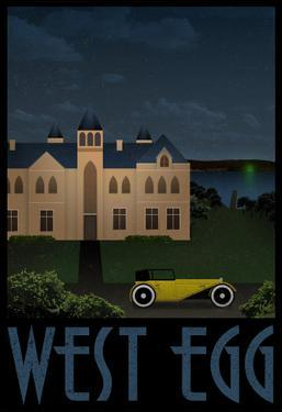 West Egg Retro Travel Poster