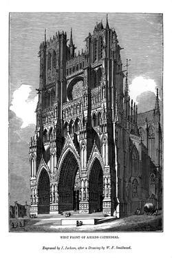 West Front of Amiens Cathedral, 1843 by J Jackson