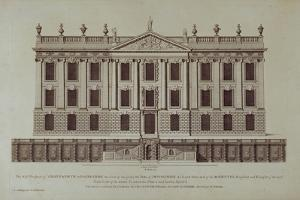 West Front of Chatsworth, from 'Vitruvius Britannicus or The British Architect'