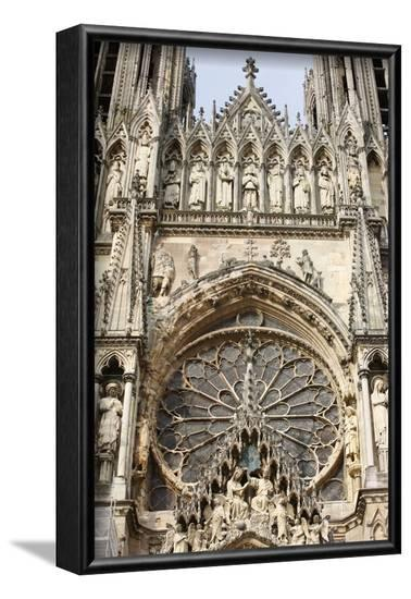 West front of Reims cathedral, Reims, Marne, France-Godong-Framed Photographic Print