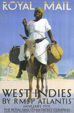 West Indies by Royal Mail Steam Packet Company Poster