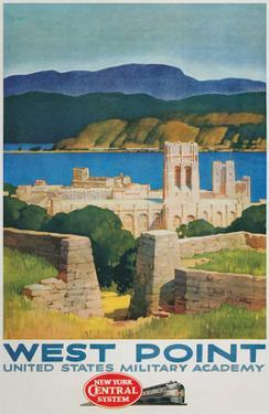 West Point United States Military Academy Railroad Poster