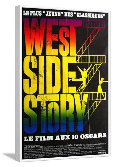 West Side Story, French Movie Poster, 1961--Framed Art Print