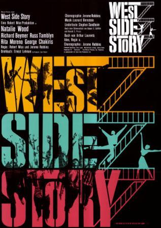 West Side Story, German Movie Poster, 1961