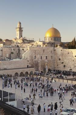 Western Wailing Wall, the Dome of the Rock and Omar Mosque, Old City, East Jerusalem