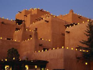 Farolitos at Loretto During the Christmas Season, at Santa Fe, New Mexico, USA by Westwater Nedra
